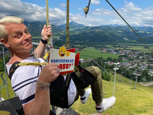 Guido Cantz beim Flying Fox am Hocheck in Oberaudorf
