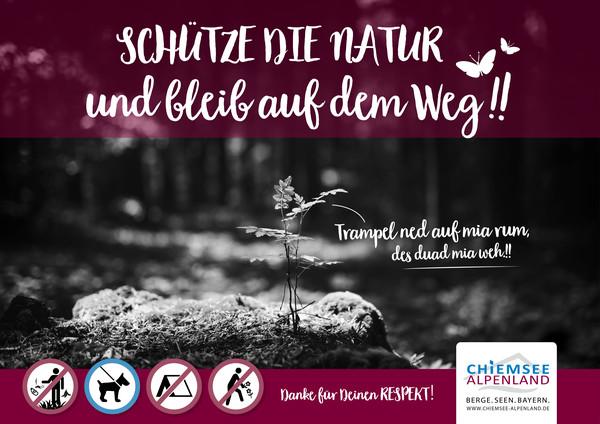 Plakat Naturschutz quer