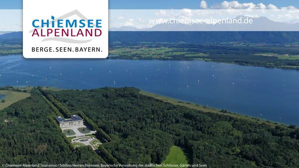 Hintergrund Videokonferenz Schloss Herrenchiemsee
